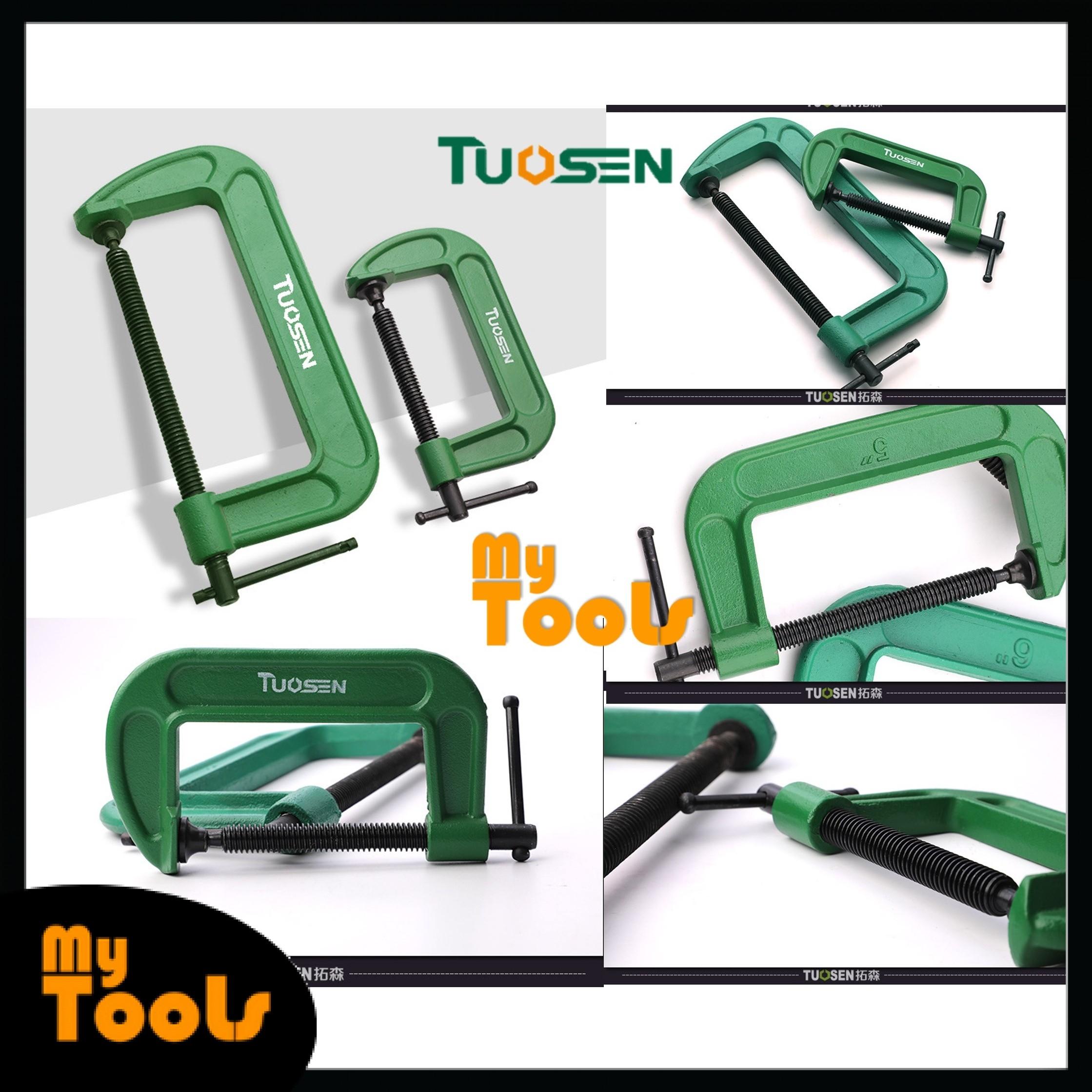 "Mytools Premium TUOSEN 3"" 4"" 5"" 6"" 8"" G Clamp Shaped Adjustable Working Heavy Duty Pengapit G"