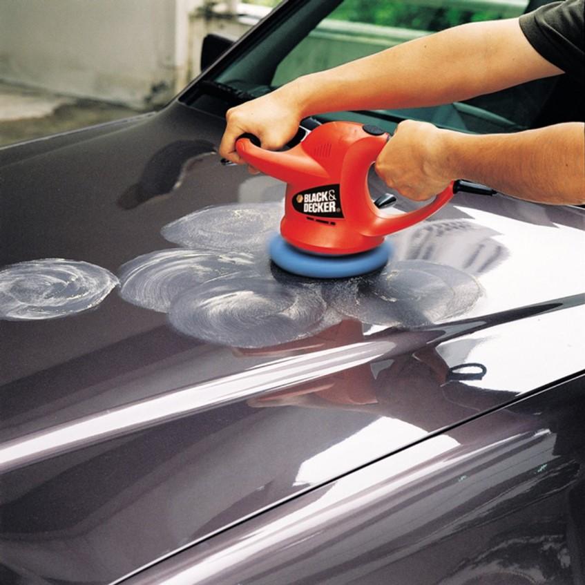 Black + Decker KP600 Car Polisher With Extra 1set Waxing / Polishing Pack ( KP600 )
