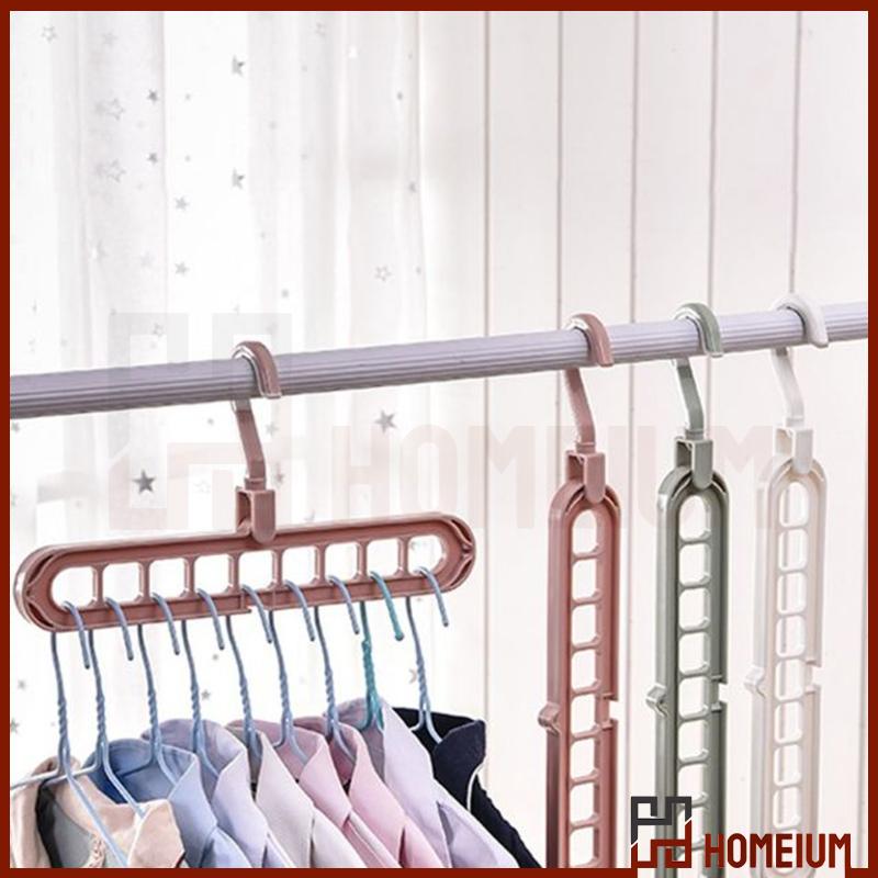 Mytools 9 Holes Hanger 360 Degrees Rotatable Hook Balcony Coat Hangers Plastic Wardrobe Storage Rack