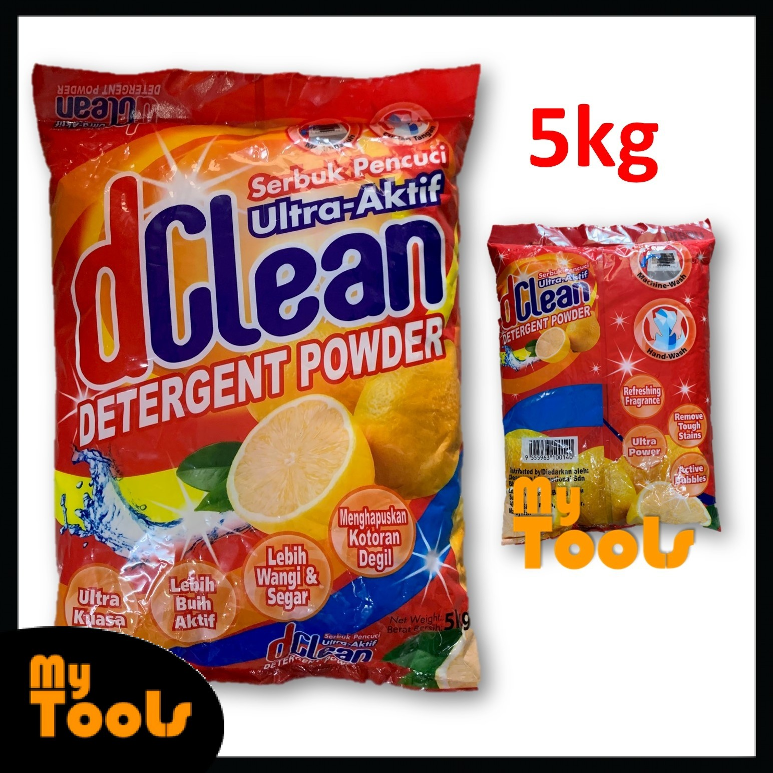 Mytools D Clean Washing Detergent Powder Laundry Serbuk Pencuci 5kg