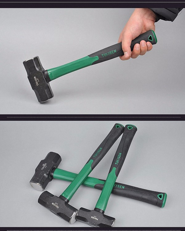 Mytools Premium Tuosen 2LB / 3LB Masonry Sledge Hammer With Fiber Handle, Octagonal Hammer For Wood Working,Square Head Construction Hammer Multi tool