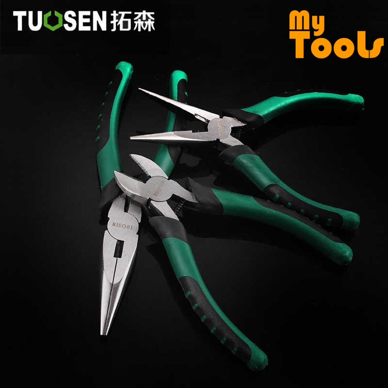 Mytools Premium TUOSEN 6 Inch / 8 Inch Steel Long Nose Pliers Tool Sharp Nose Pliers Cutter