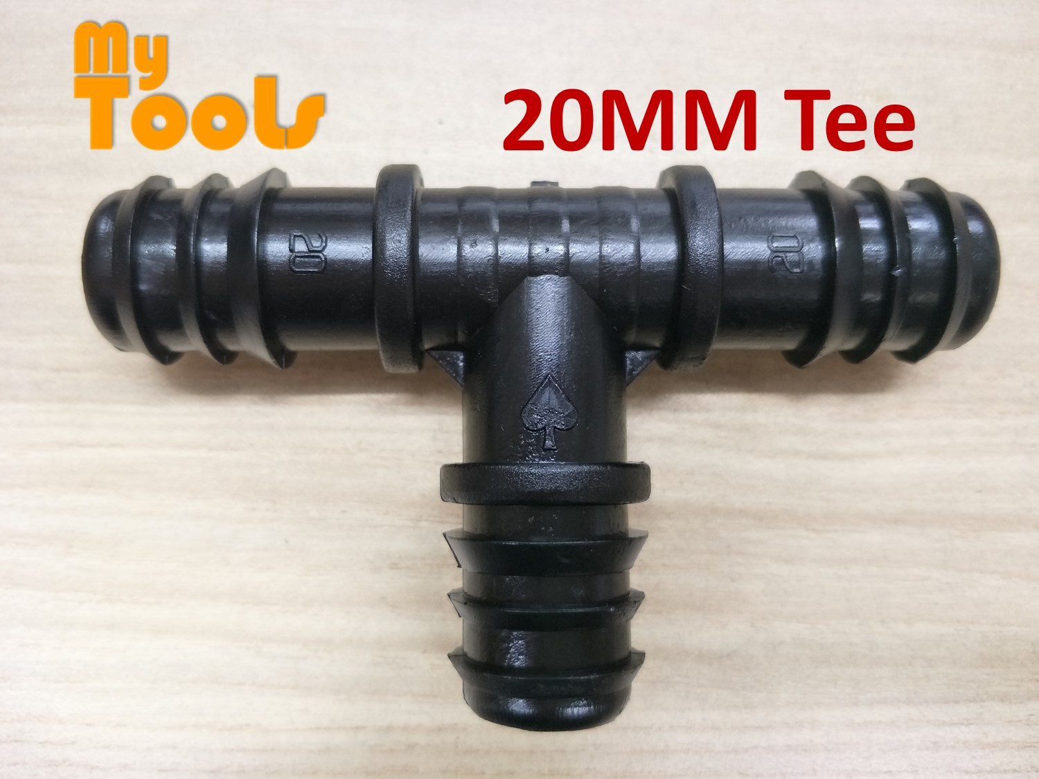 Mytools 20MM Equal Tee Irrigation Fitting Hydroponic Water Hose Connector Fertigasi