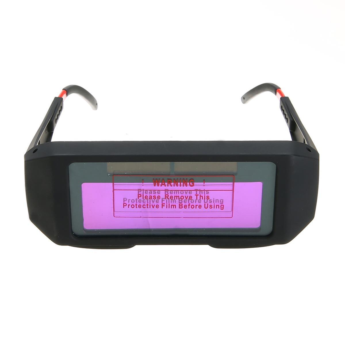 Solar Powered Auto Darkening Welding Helmet Eyes Shield Goggle Glass Glasses Arc