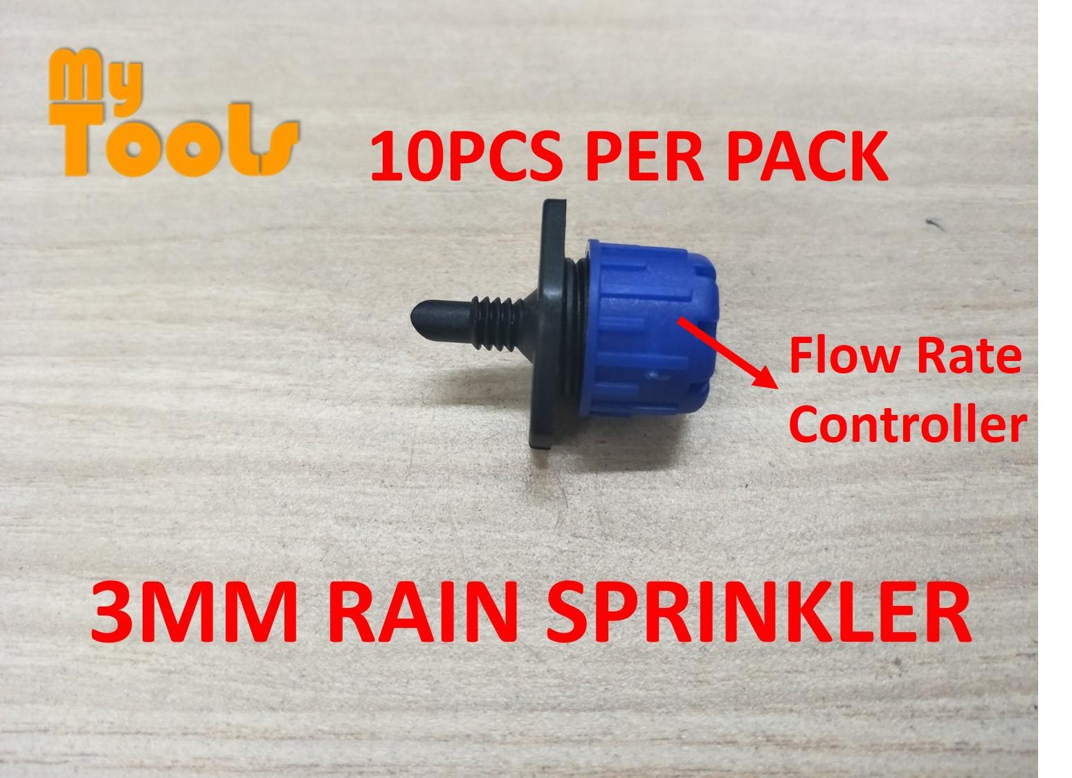 Mytools Mini Jet Sprinkler Rain Sprayer Nozzle Garden Watering Pipe Fitting Connector Fertigasi 16mm 20mm Poly Tubing