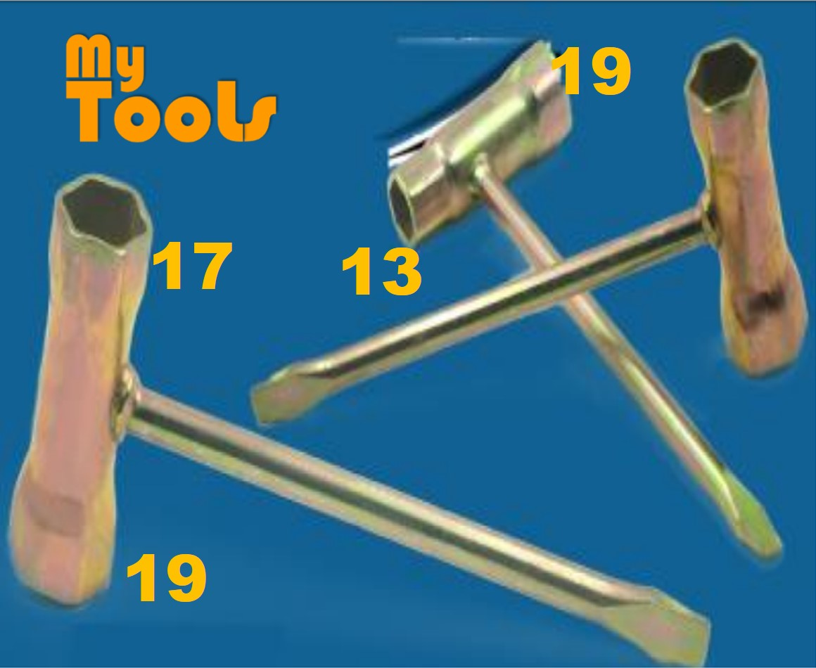 Mytools Spark Plug Opener Brush Cutter Pembuka Plug Mesin Rumput Galas 17mmx19mm , 13mmx19mm