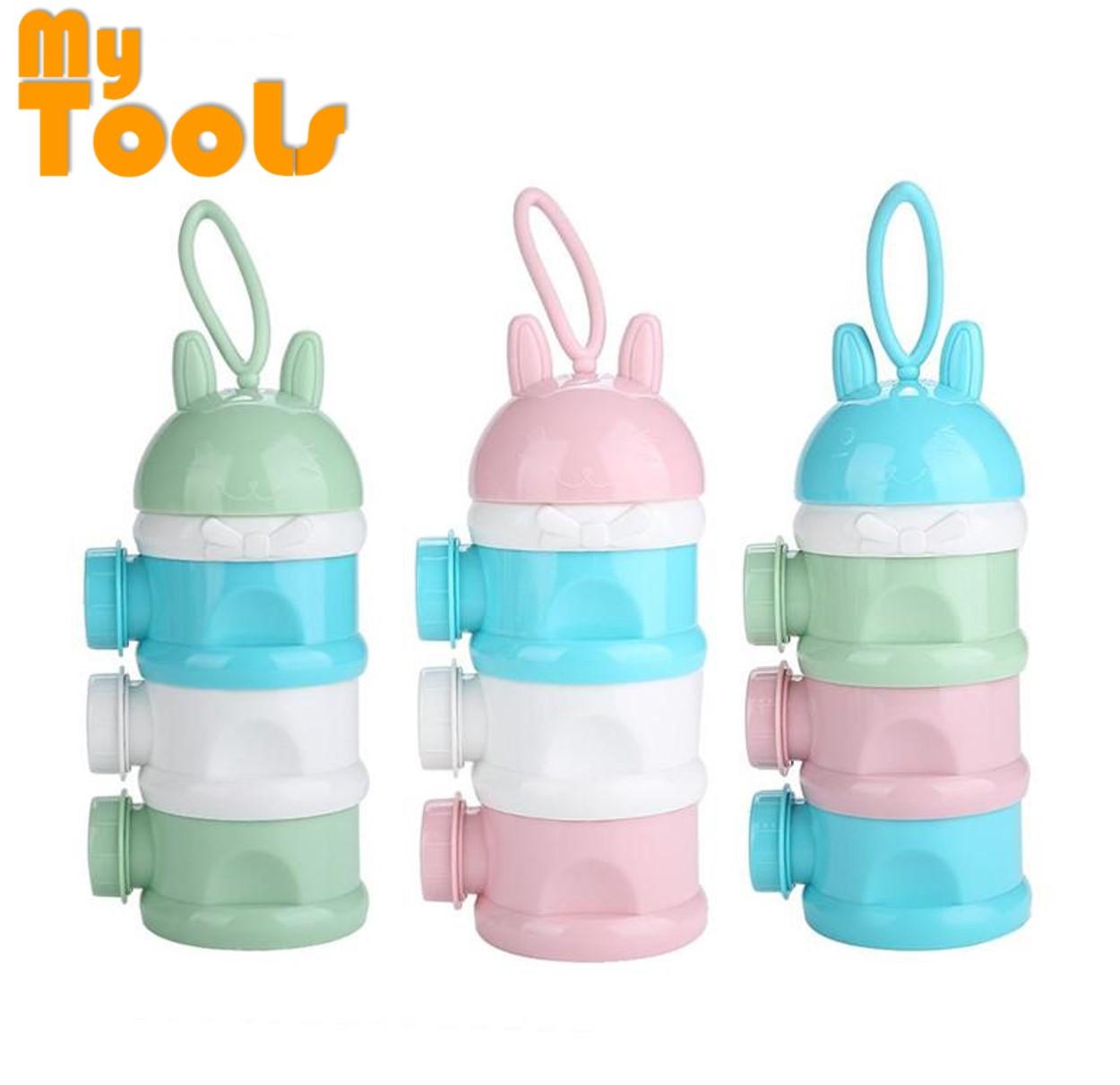 3-Layer Portable Baby Milk Powder Formula Food Dispenser Container Storage Boxes