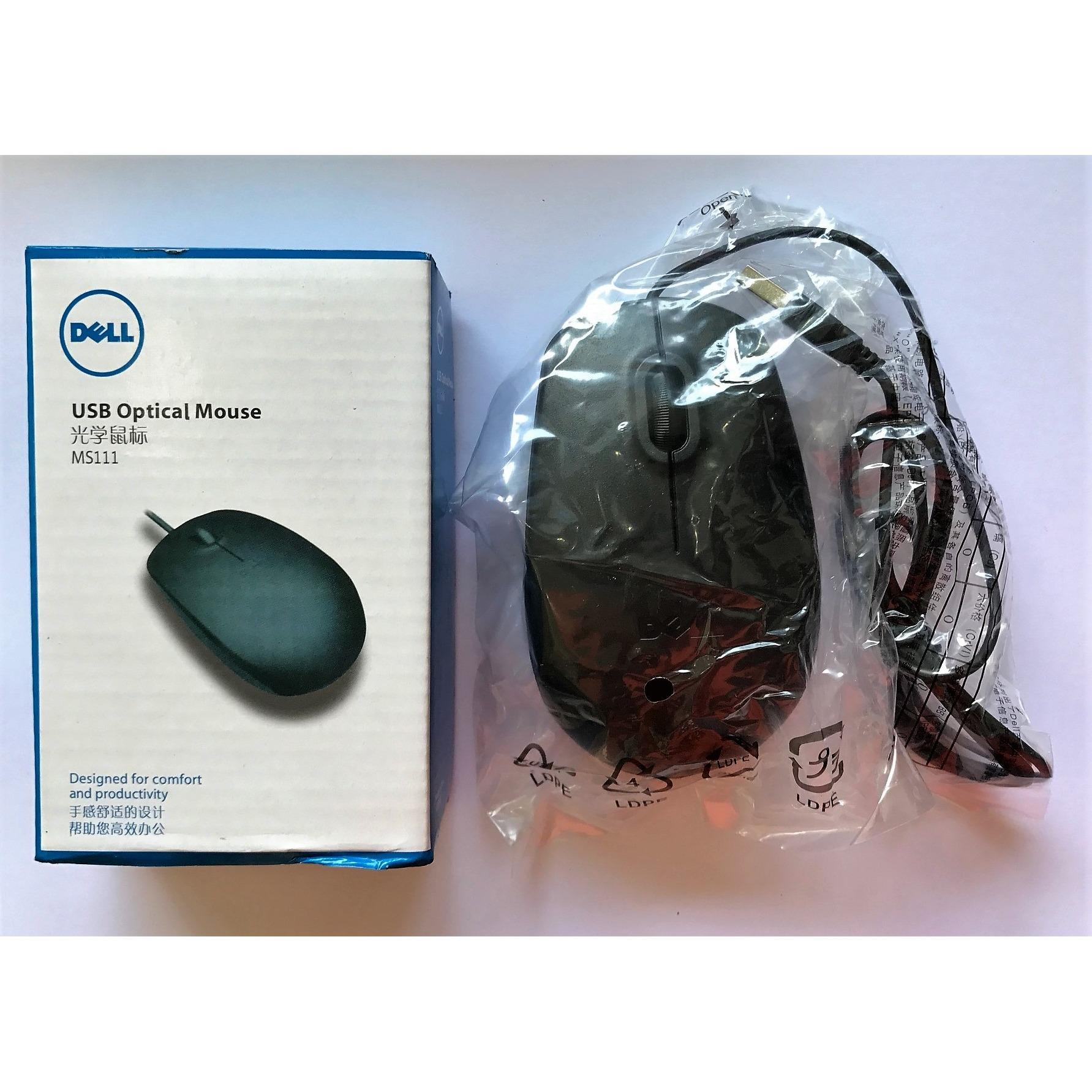 DELL MS111 Wired Mouse USB 2.0 Pro Office Mouse Optical Mice For Computer PC High Quality
