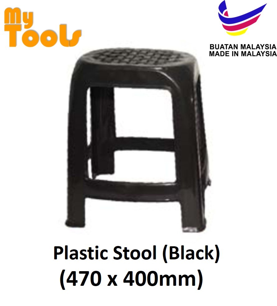 Mytools Black Plastic Stool Chair Outdoor Kitchen Furniture Dining Dinner Chairs Kerusi Plastik