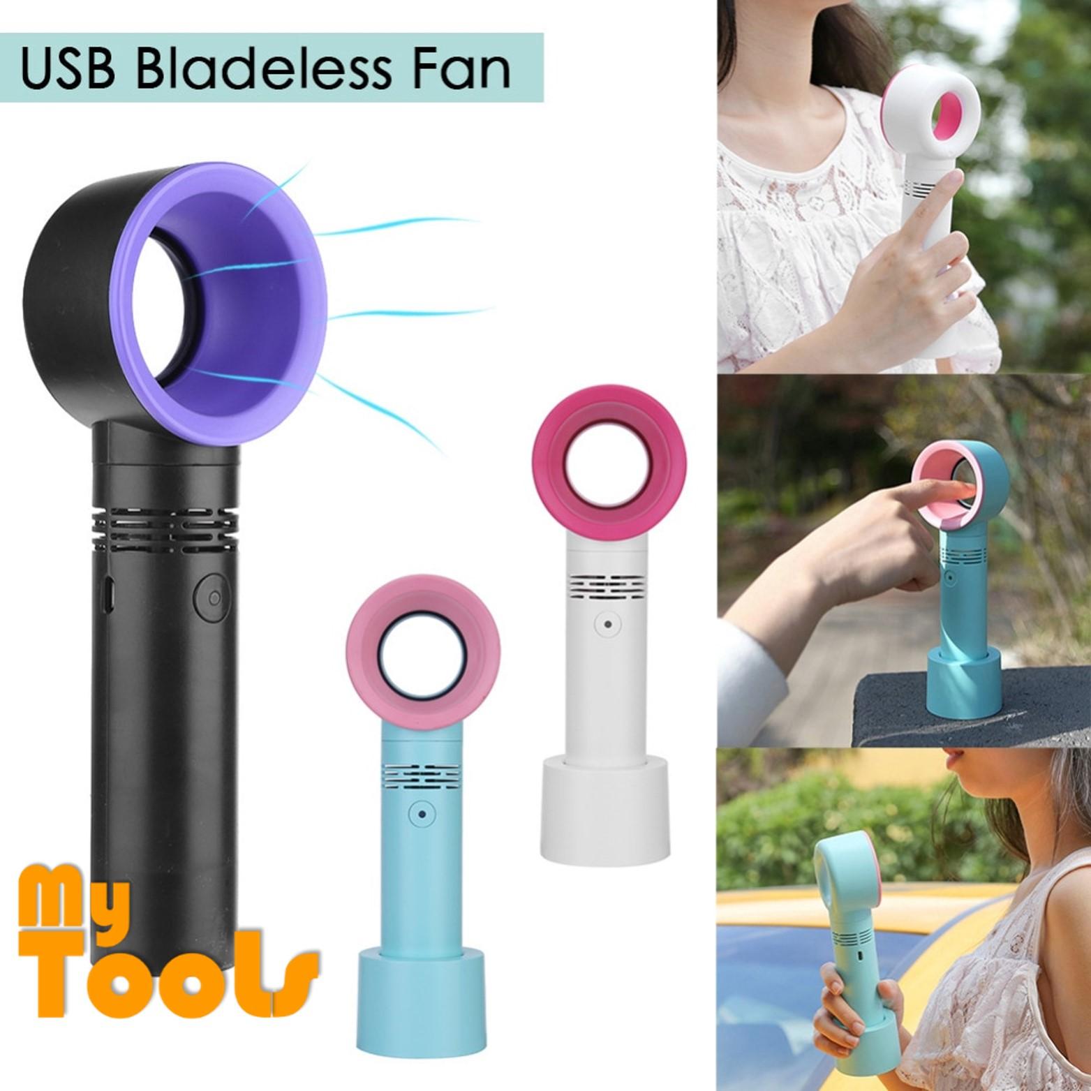 Mytools Mini Bladeless Fan Leafless Fan Casual USB Handheld Cooling Fan Leafless