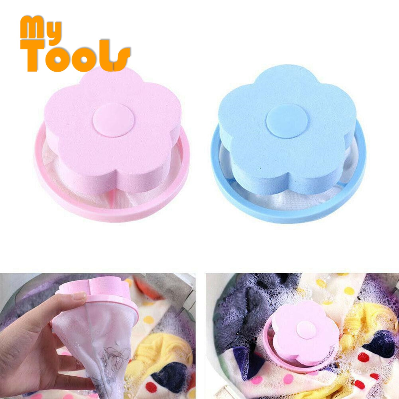 Mytools Washing Machine Lint Laundry Filter Bag Floating Lint Hair Remover Mesh Pouch