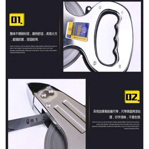 50meter Stainless Steel Measuring Tape (Super Duty)