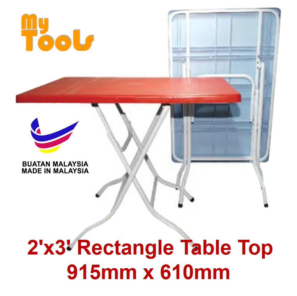 Mytools 2ft x 3ft Rectangle Foldable Plastic Table (Made In Malaysia)