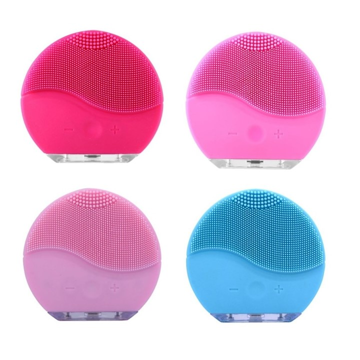 Mytools Waterproof Electric Silicone Facial Cleaning Brush Ultrasonic Makeup Remover Cleaner Massager Face Wash Brush USB Rechargeable Pore Blackhead Cleaning Device Skin Care Beauty Tools