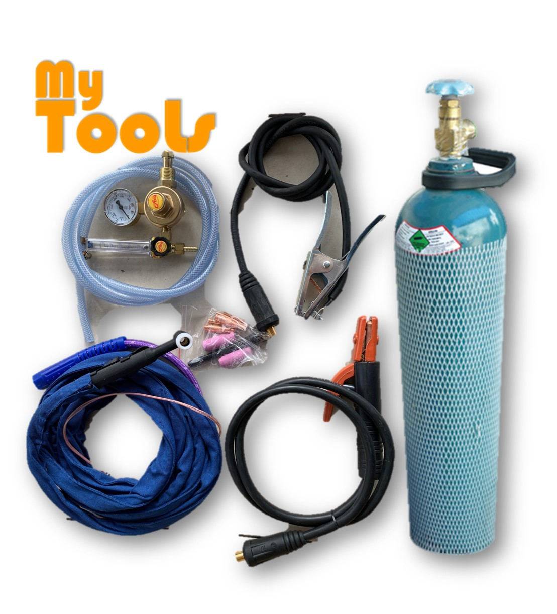 Mytools TIG 200 TIG & ARC Stainless Steels Welding Machine Inverter Complete With c/w Argon Gas Tank