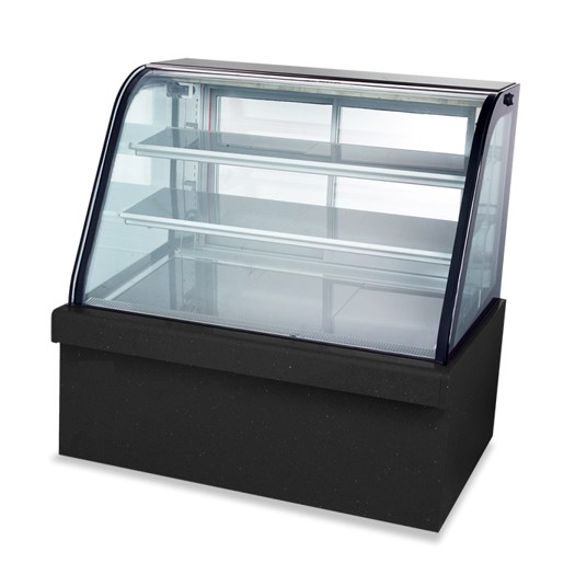 Mytools 300L 1200mm x 660mm x 1200mm Curved Glass Cake Showcase Chiller Cake Display Refrigerator