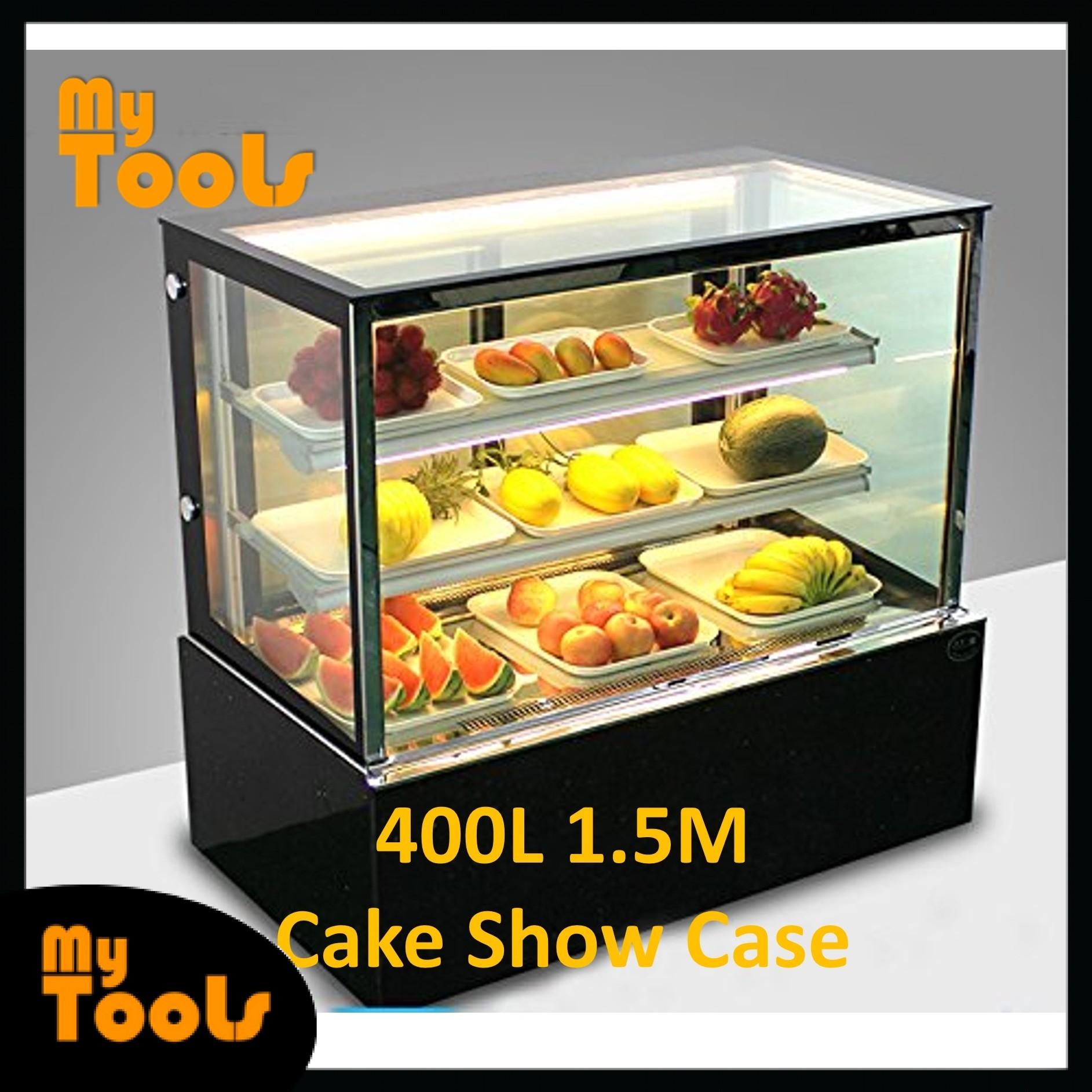 Mytools 400L 1500mm x 660mm x 1200mm Glass Cake Showcase Chiller Cube Shape Cake Display Refrigerator