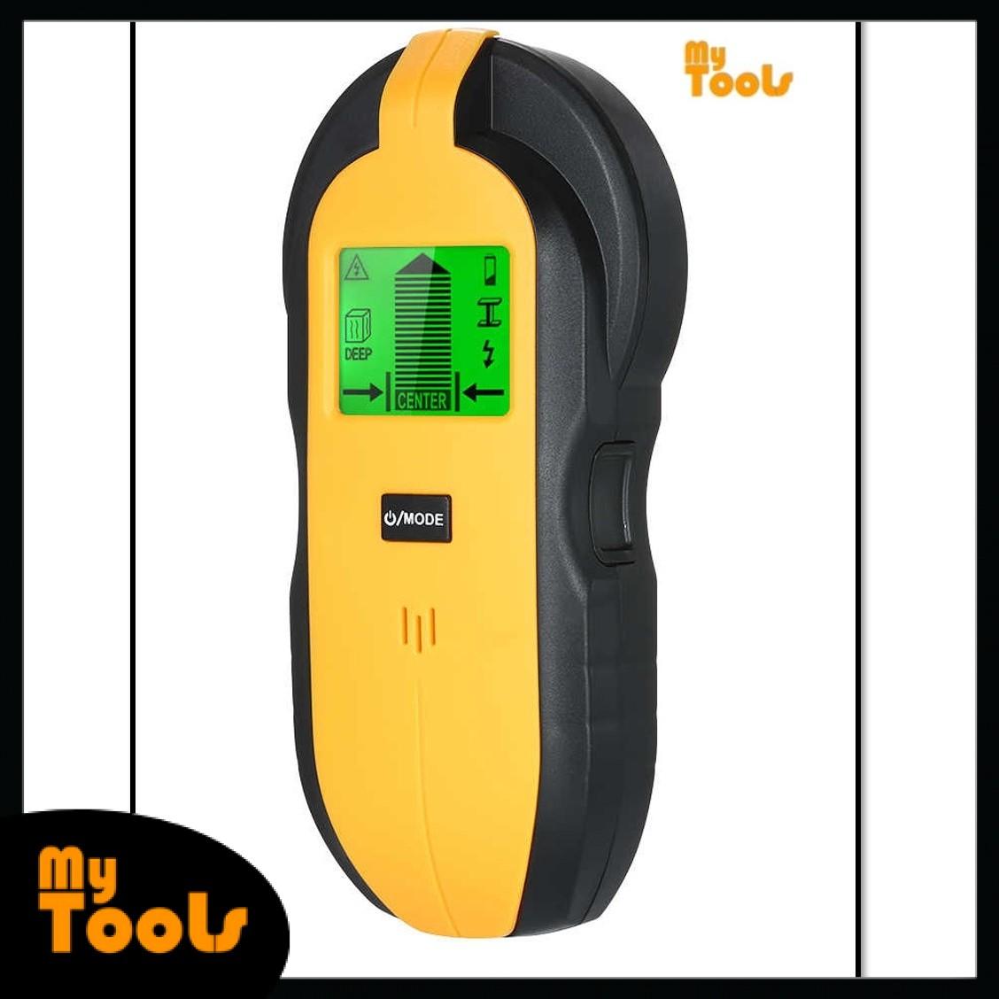 Mytools TH250 Digital Mini 3 in 1 Wood Metal Detector Meter Wall Stud Center Finder Wood Metal AC Live Wire Scanner