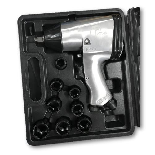 "F-Tool F-312 1/2"" 312Nm Air Impact Wrench c/w Impact Socket Set"