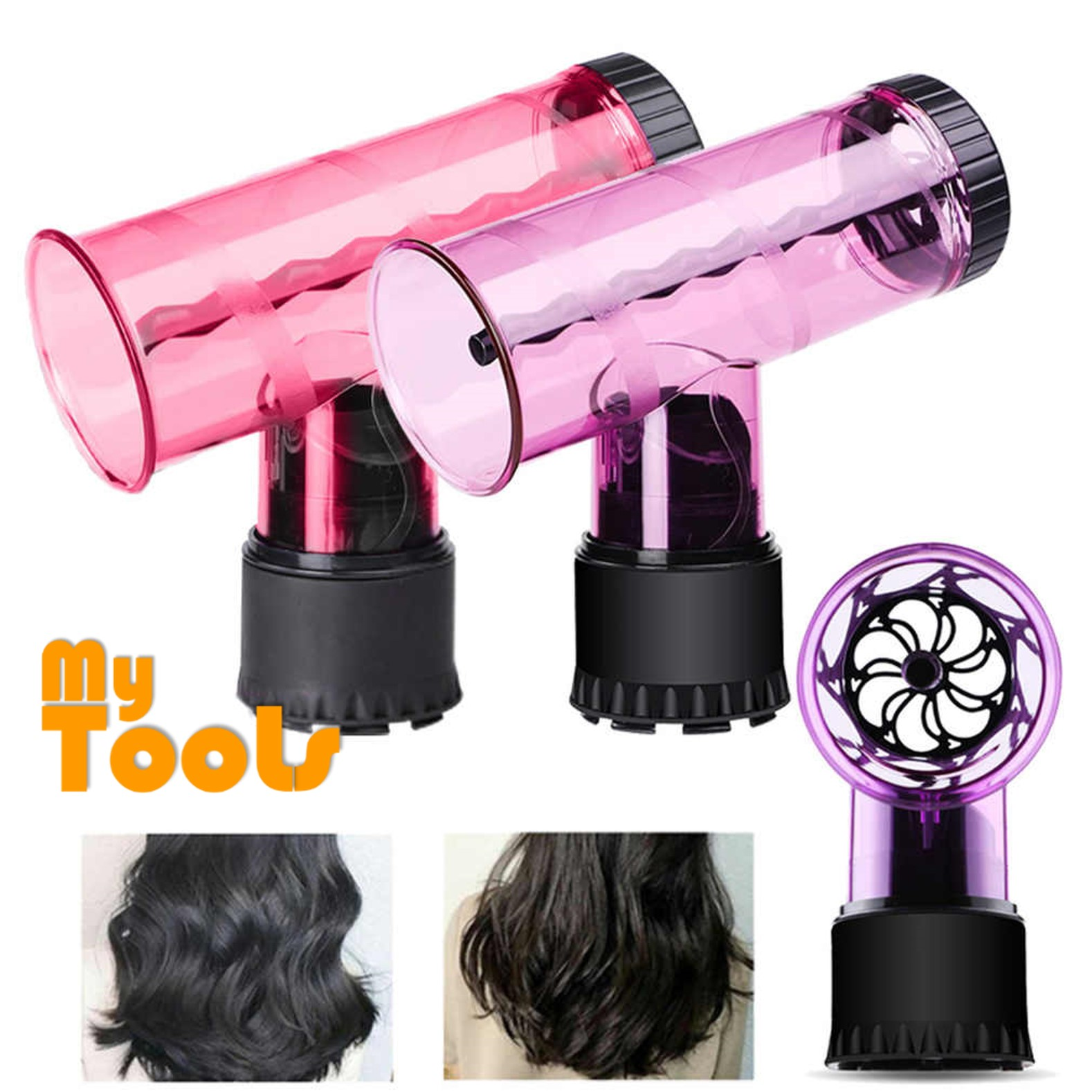 Mytools Hair Curler Hair Dryer Adapter Tornado Hood Big Wave Magic Hair Rollers Spin Dryer