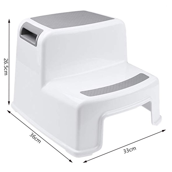 Mytools Thick Plastic 2 Step Stool Kids Toddler Stool Toilet Potty Training Stool Bathroom