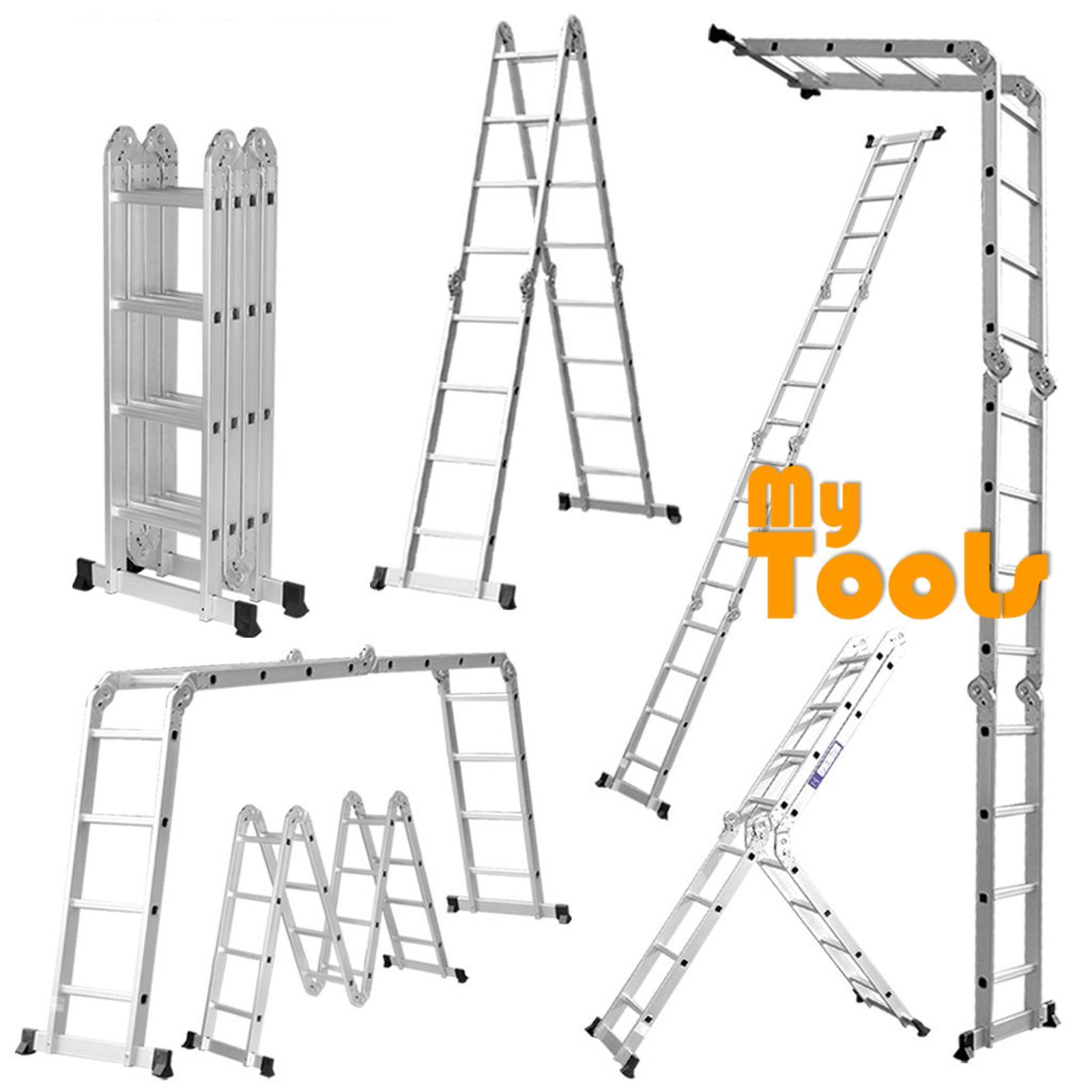 Mytools 16 Step 16Feet Multipurpose Aluminium Ladder (Heavy Duty)