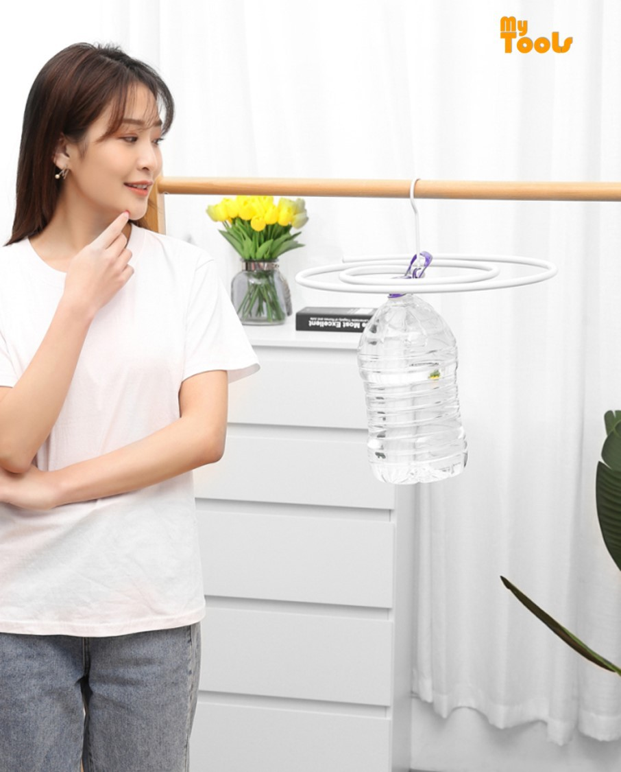 Mytools Spiral Hanger Rotating Storage Rack Save Space Drying Rack Hanger