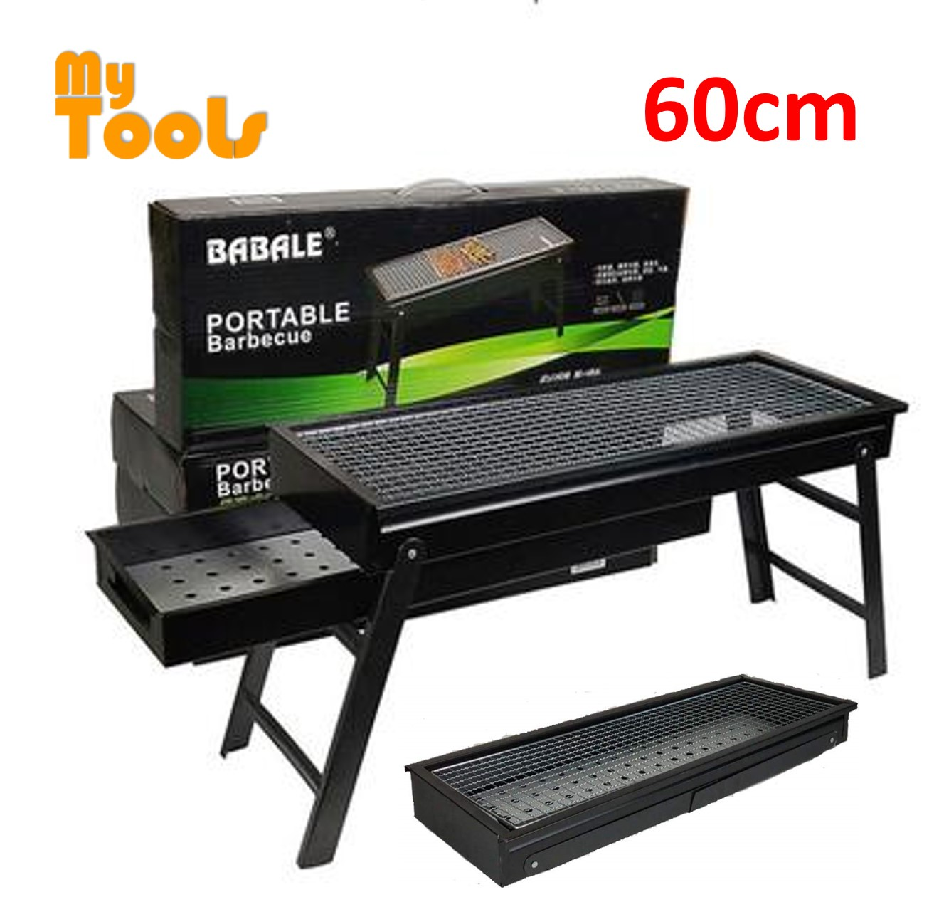 Mytools 60CM Portable Folding Barbecue Stand Japanese Style Stove BBQ Grill Outdoor