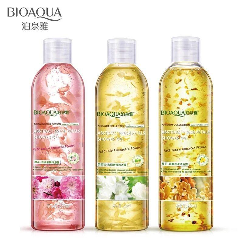 Mytools BIOAQUA 250ml Flower Petals Body Wash Shower Gel Perfume Fragrance Whitening Bath Lotion Soft Moisturizing Body Skin Care