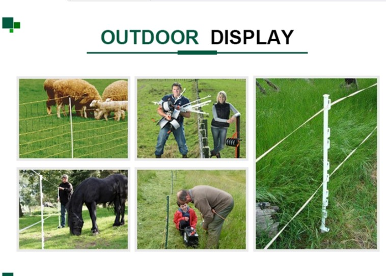 1100mm Electric Pole Post Heavy duty steel stakes For Wire Fencing Electric Fence ( Pagar Electric )