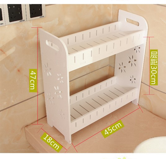 Mytools WPC Plastic Board 2 Tiers Bathroom Toilet Organizer Shelf Storage Rack Shelves Space Saver