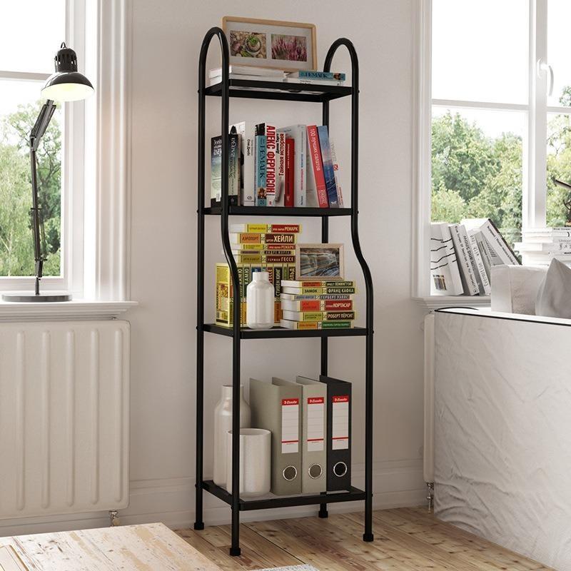 Heavy Duty 4 Tier Storage Decoration Kitchen Living Room Organizer Steel Rack Black