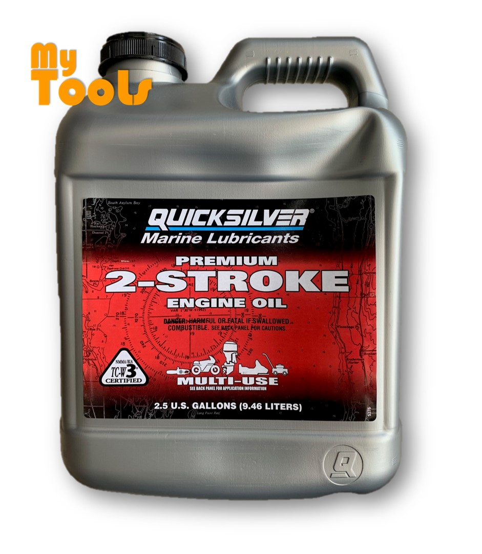 Quicksilver Outboard Marine Lubricants 2-Stroke Lubricant 2T TCW-3 Engine Oil 9.46L / Minyak 2T Mad