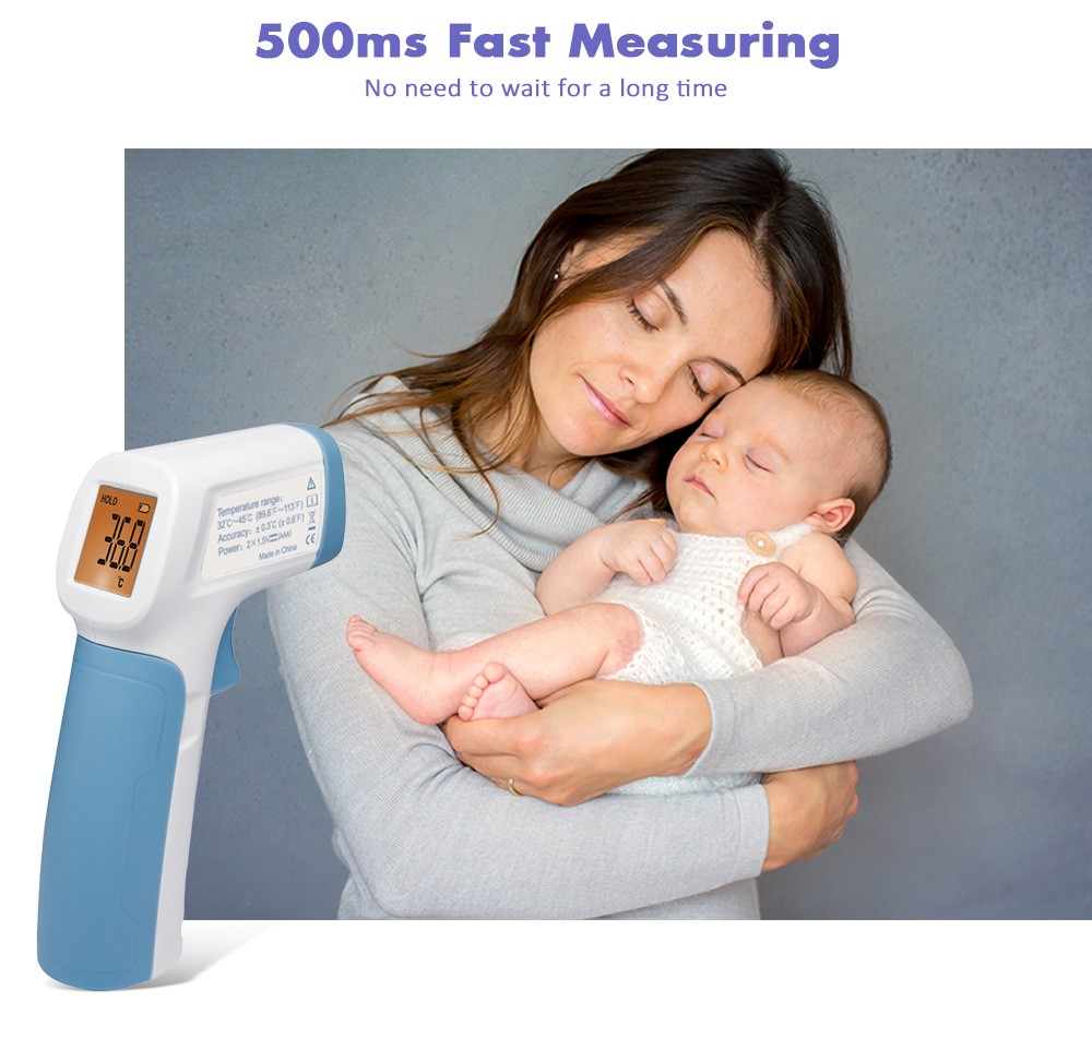 Ready StockUNI-T UT30R Non-Contact Infrared Thermometer 500ms Fast Response LCD Display / Unit Conversion
