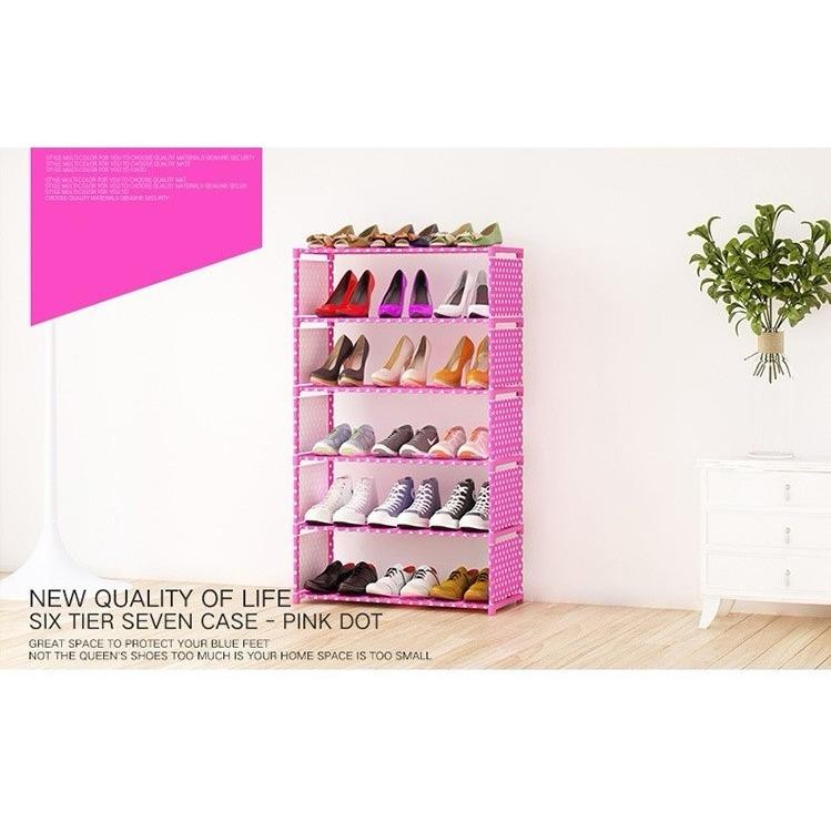 Korean Premium Quality 6 Tier SK-6 DIY Shoe Rack