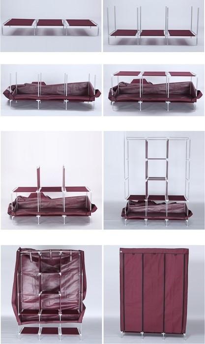 Mytools King Size Curtain Type Multifunctional Wardrobe Multi-functional Almari Baju Waterproof Dust Cover