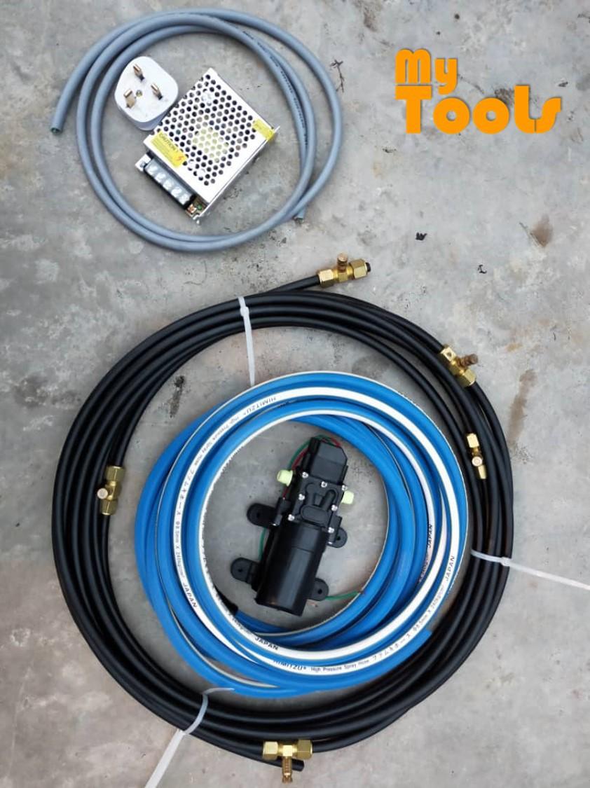 Mytools Pressure Misting Pump Complete Set Cooling System Chemical Spraying Fogging Disinfectant