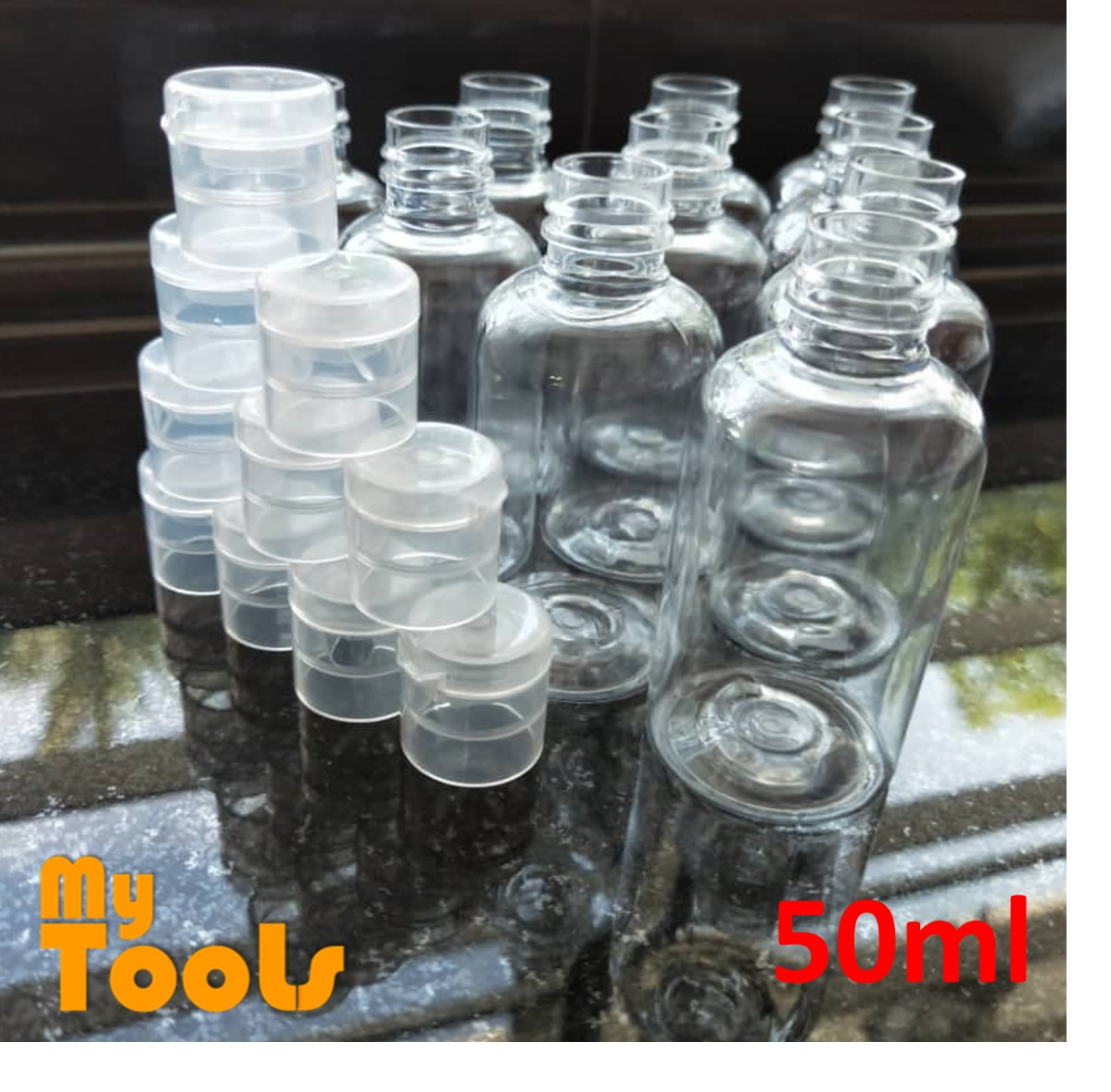 Mytools Portable Travel Empty PET Plastic Bottle 50ml