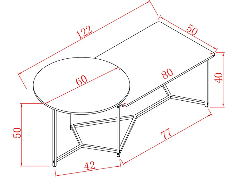 Mytools 2 In 1 Coffee Table Side Table for Living Hall for Caf Furniture AirBnB for Office