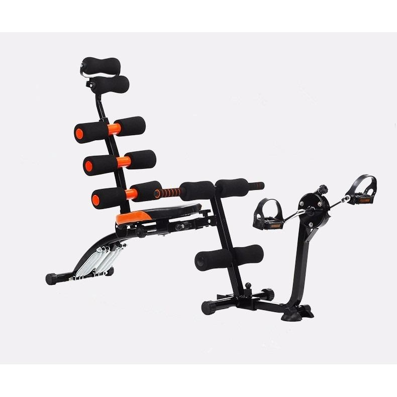6 Six Pack Care Exercise Bench Sit Up Gym Fitness Machine With Pedal Bike