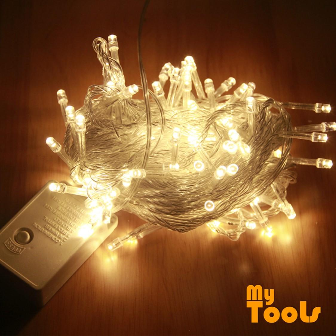 Mytools 10m 100 pcs LED fairy Light (Warm White) String Light Lamp Wedding Party lampu Home Festive Decorative strip lighting display
