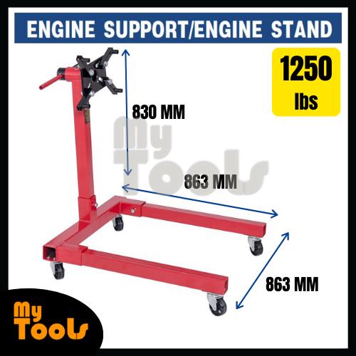 Mytools CE Certified 1250lbs 560kg Shop Engine Stand Hoist Automotive Lift Engine Suppor+ 3 Months Warranty