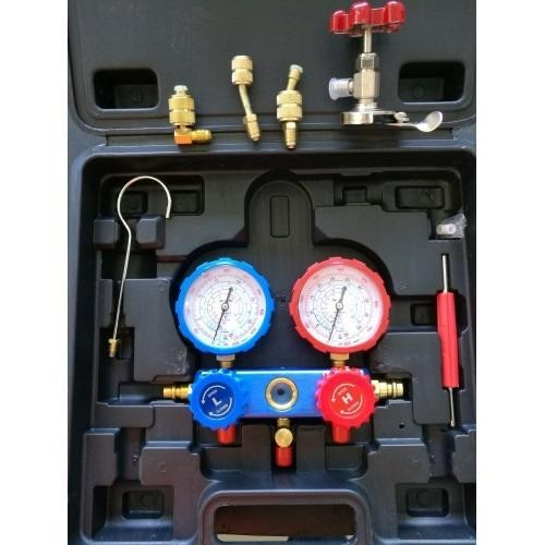 R22 / R134a / R404a / R410a Multipurpose Manifold Gauge Set (Accessories Added)