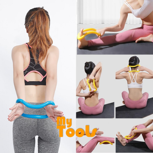 Yoga Ring Fitness Yoga Stretch Tension Exercise Circle Fascia Rings Pilates Roller Yoga Ring Magic Cycle (Pink Colour)