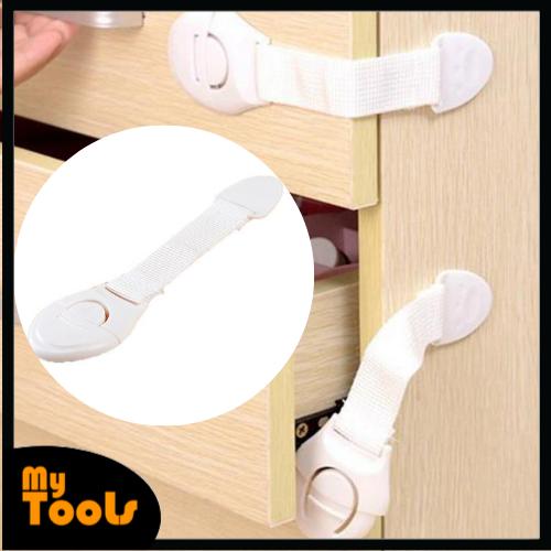 Mytools 3M Adhesive Kid Safety Door Lock for Door Drawer Fridge Wardrobe Clip Buckle Type 1Pcs/10Pcs