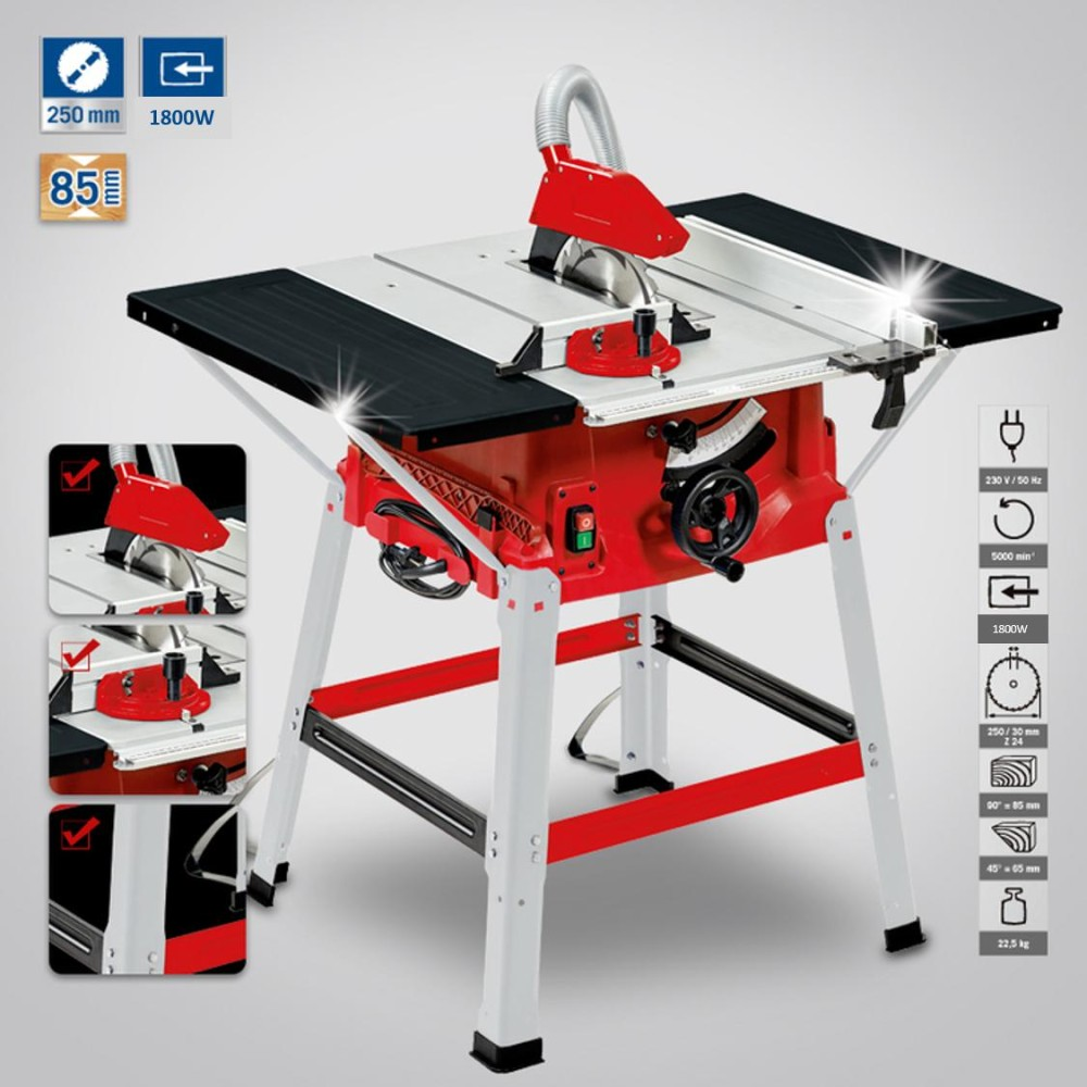 "Boda BD10L 1.8kW 10""/254mm 1.2m Table Saw Machine"