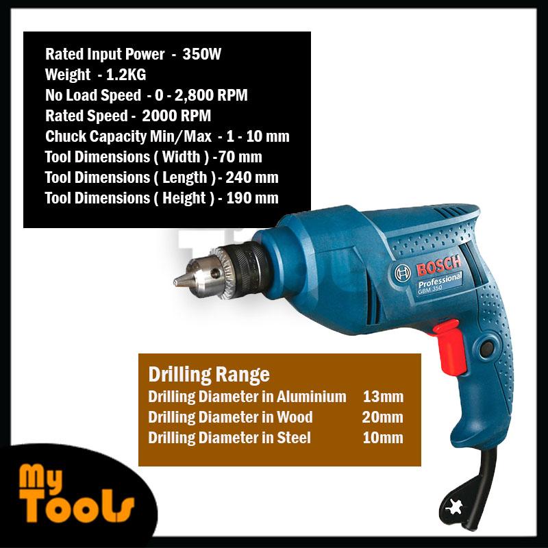 Bosch GBM 350/ GBM350 Professional Hand Drill 350W 1.2KG Hand Drill