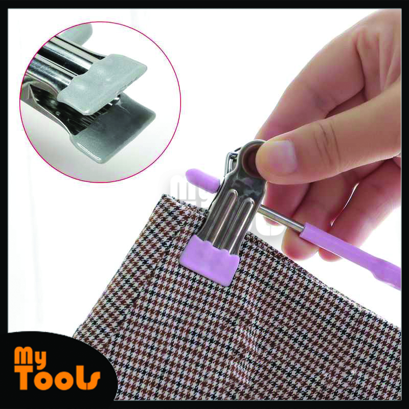 Mytools Stainless steel hanger hook with clip for drying underwear rack and pants clip for household seamless air storage