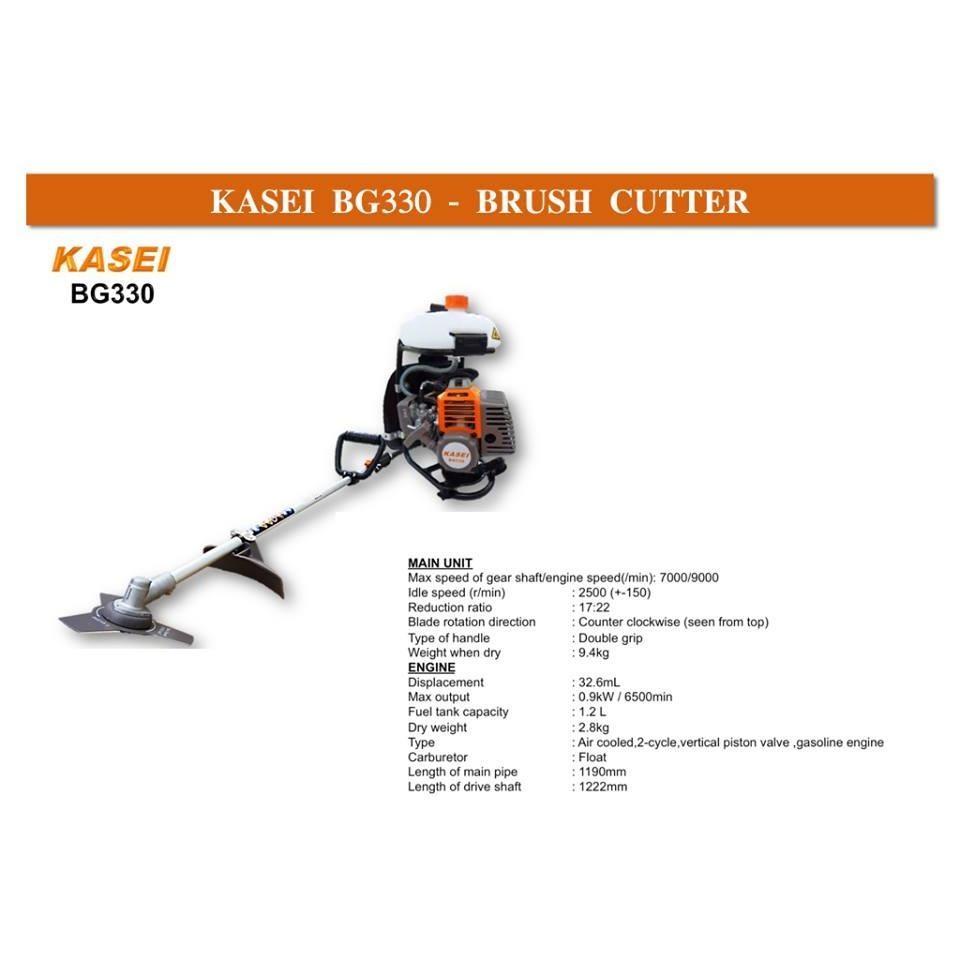 Kasei BG330 33CC Backpack Brush Cutter (Mesin Rumput)