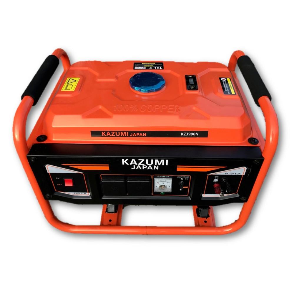 Kazumi KZ3900N (Japan) 3900W Starting 3300W Running Petrol Generator with 12V Charging & 2unit 2